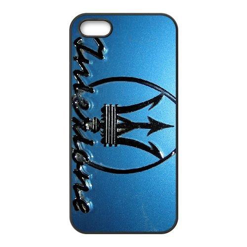 Maserati 002 coque iPhone 5 5S cellulaire cas coque de téléphone cas téléphone cellulaire noir couvercle EOKXLLNCD25863