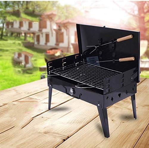 LEIXIN Barbecue Portable en Plein air Barbecue Party de Famille Easy Set ménage Type Valise 3-4 Personnes Grill Charbon Grill Portable Pliant extérieur Barbecue
