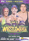 #6: 2018 Topps WWE Road to Wrestlemania EXCLUSIVE Factory Sealed Retail Box with RELIC Card! Look for Cards & Autographs of WWE Superstars including Jon Cena, Roman Reigns, Brock Lesner & More! Wowzzer!
