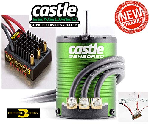 Castle Creations Sv3 Waterproof 1:10Th 12V Esc & 1406-4600 Sensored Motor