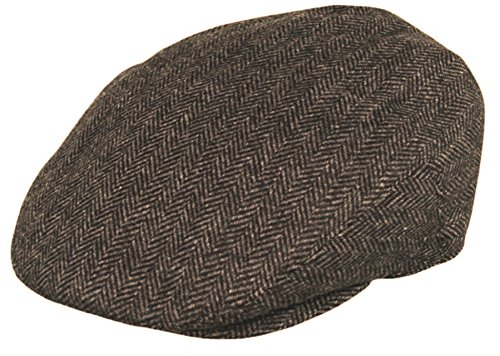 Classic Wool Ivy Cap - Men's Premium Wool Blend Classic Flat Ivy Newsboy Collection Hat (X-Large, 1935-Brown)