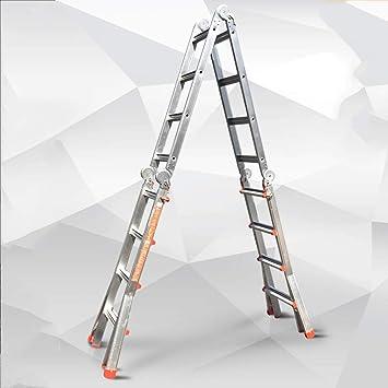 DD Escalera Telescópica, Aleación Aluminio Escalera Plegable Ingeniería Escalera Espiga Telescópica, Escalera Plataforma Elevadora Multifunción Engrosada: Amazon.es: Bricolaje y herramientas