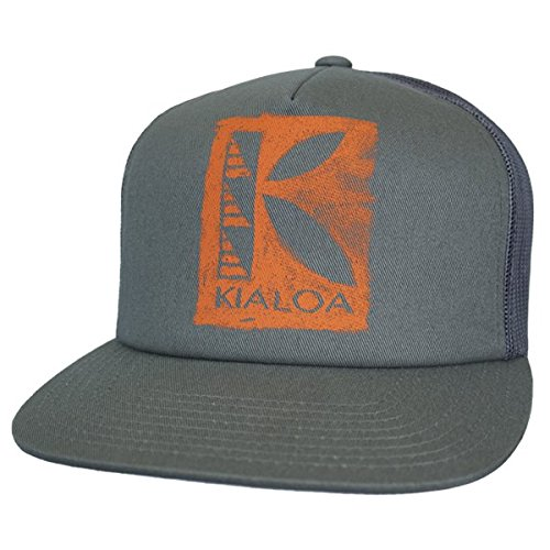 (KIALOA Paddles Unisex Snapback Wai Trucker Hat - Charcoal (One Size))