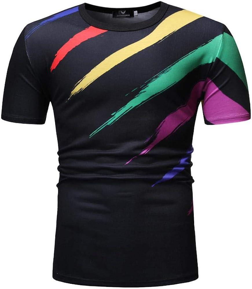 Joven Camiseta, el Color de la Camiseta de Manga Moda Camiseta de algodón Informal de Verano Camiseta Impresa chupar Rueda