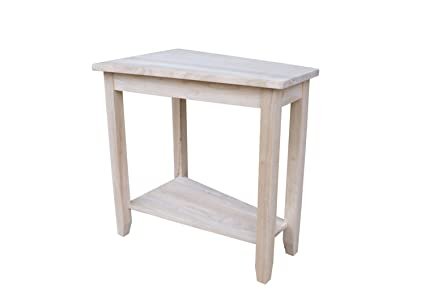 International Concepts Unfinished Keystone Accent Table
