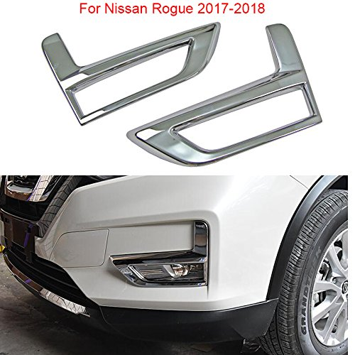 2PCS Chrome Before Fog Light Lamp Cover Decorate Trim For Nissan Rogue 2017 2018 YongChao