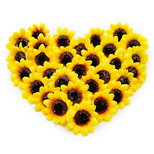 (YEDREAM Artificial Sunflower Heads Bulk, 1.6