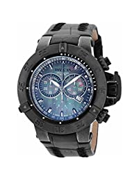 Invicta Men's 'Subaqua' Swiss Quartz Stainless Steel and Leather Automatic Watch, Black (Model: 18450)