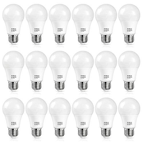 SHINE HAI A19 LED Bulb 60W Equivalent Warm White 2700K 800lm Non dimmable LED Light Bulbs 18 Pack
