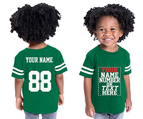 (Custom Cotton Jerseys for Toddlers and Kids - Make Your OWN Casual Outfit Green)