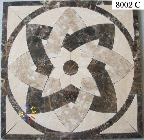 Floor Marble Medallion Mosaic Tile 36 Inch.
