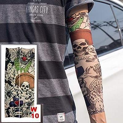 4 piezas falsas tatuajes temporales mangas tatuajes completo largo ...