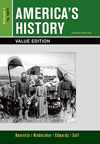 Loose-leaf Version of America's History, Value Edition, Volume 1