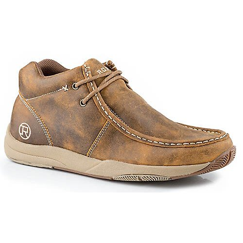Roper Mens Clearcut Perform Slip-On Tan Shoes 9.5 ()