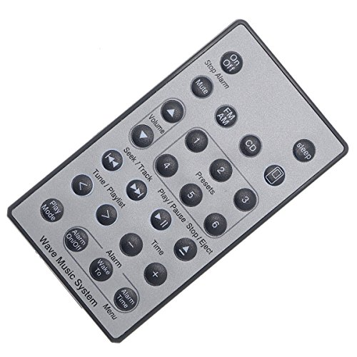 DEHA Wave Music System Remote Control Replacement for Bose (Silver) -  43237-137826