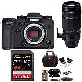 Fujifilm X-H1 4K Mirrorless Camera Body w/XF 100-400 f/4.5-5.6 R LM OIS WR Super Telephoto Lens Bundle