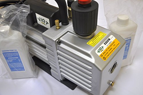 VPD10:2-Stage Rotary Vane High Performance Deep Vacuum Pump 9.5 CFM 12 micron ports:1/4&3/8 SAE MFL,Recommended for Vaccum Bagging/Epoxy Infussion Workshop Setup -
