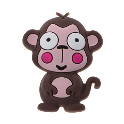 Amazon.com: Hacloser Monkey Silicone Teething Toys Baby Nursing ...
