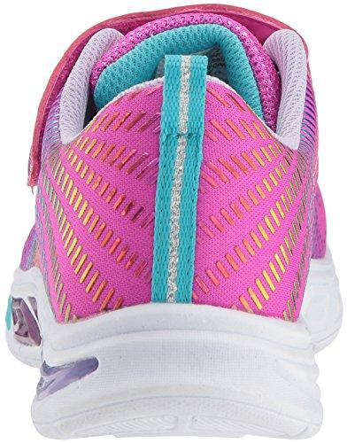 neon Rosa multi Npmt Skechers Litebeams Pink Para Zapatillas Niñas gleam N'dream nF07gq