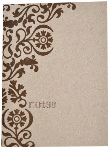 Delphine Amelie Letterpress Journal, Chipboard Cover with 24 Lined Pages, 1 Count (Beauty Chipboard)