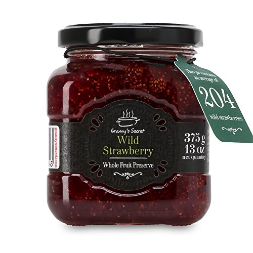 Granny's Secret Preserves, Wild Strawberry, 375 Gram (Pack of 6)