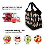 NiYoung Rough Collie Dog Lunch Bags Insulated Lunch Tote Bag Large Reusable Lunch Box Portable Lunchbox Lunch Organizer Lunch Holder for Women Men Kids 9