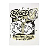 5' x 7' Area Rug Beer: Helping People Get Lucky