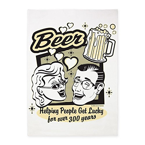 5' x 7' Area Rug Beer: Helping People Get Lucky by Truly Teague