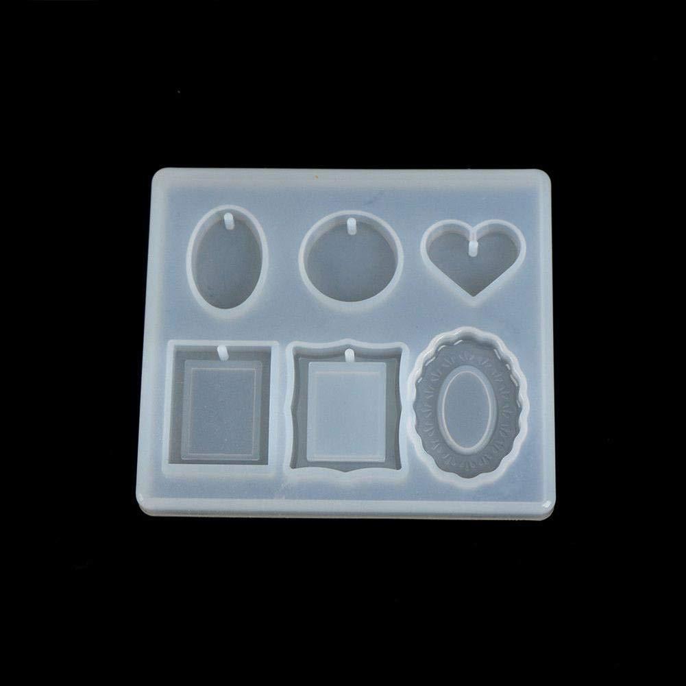 Teabelle - Molde de Silicona para Manualidades, Marco de decoración y moldes para moldear a Mano: Amazon.es: Hogar