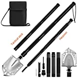 DONGKER Portable Folding Shovel Multitool Tactical Entrenching Tool Military Survival Shovel Compact Backpacking for Hunting, Camping, Hiking, Fishing Car Emergency, 33''