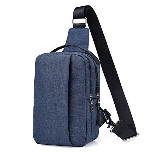 Beatsport - Bolso al hombro de Lona para hombre negro azul Talla única Azul