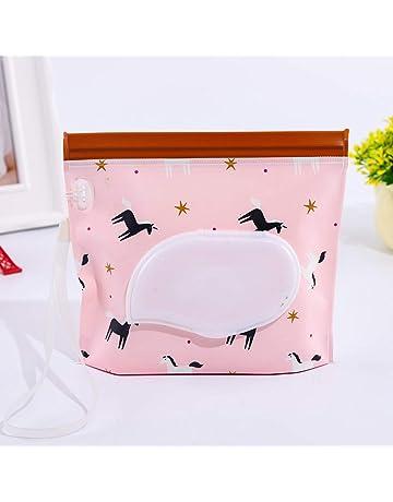 Bolsa de viaje con paño húmedo, reutilizable para bebés, con dispensador de toallitas recargable