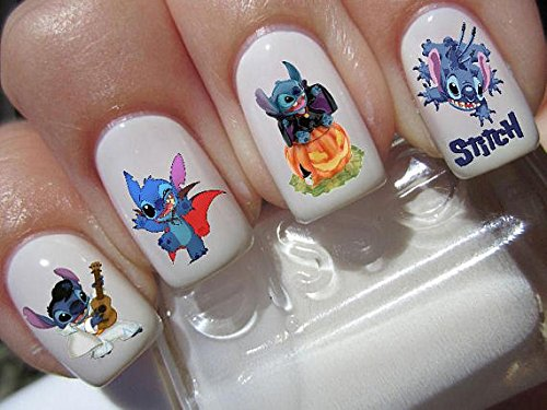 lilo & stitch halloween scary disney nail art waterslide decals nail design set #h2 -