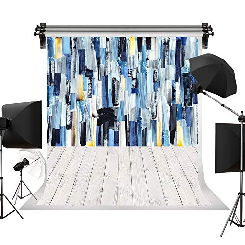 Kate 5x7ft/1.5x2.2m(W:1.5m H:2.2m) Wood Backdrop Colorful Wooden Backgrounds Oil Painting Wooden Wall Background Retro Style Photography Photo Studio - Oil Background Painting