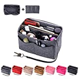 Purse Organzier, Bag Organizer with Metal Zipper (X-large, Grey)