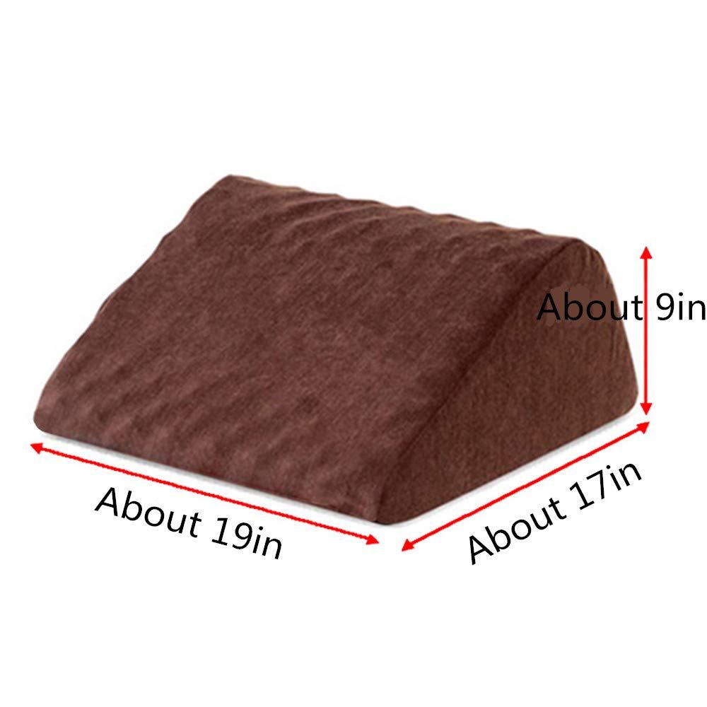 Improves Blood Circulation with Memory Foam Top Fatigue Relief Pillow Mat Leg Pillow Leg Elevation Pillow High-Density Leg Rest Elevating Foam Wedge- Relieves Leg Pain Hip and Knee Pain