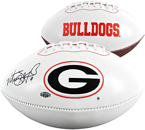 Matthew Stafford Georgia Bulldogs Autographed White Panel Football - Fanatics Authentic Certified - Autographed College ()