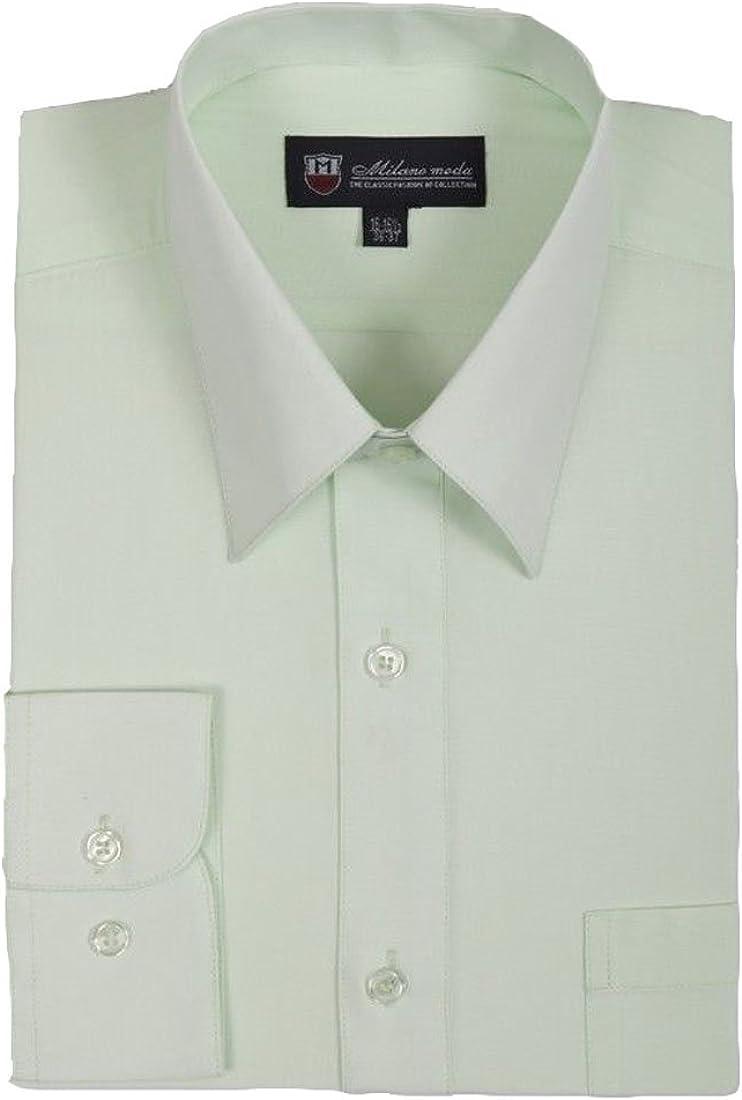 Milano Moda Mens Dress Shirt with Pointed Collar HLSG02 New York Brand