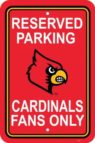 Fremont Die NCAA Louisville Cardinals 12-by-18 inch Plastic Parking Sign