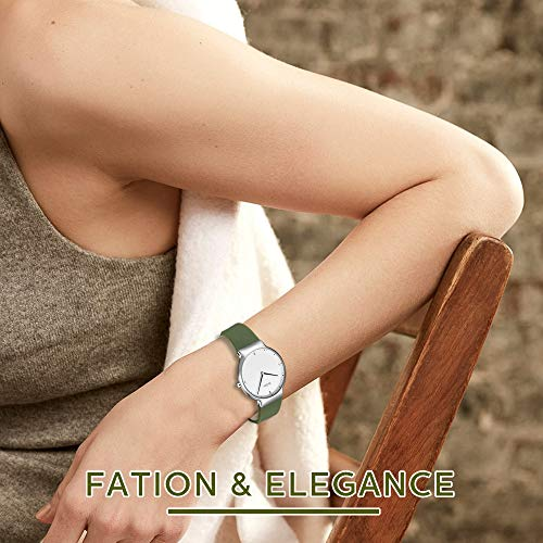 Womens Watches,Lady Simple Fashion Design Casual Business Dress Analogue Quartz Silicone Wrist Watch (Green) by ASWAN WATCH (Image #1)
