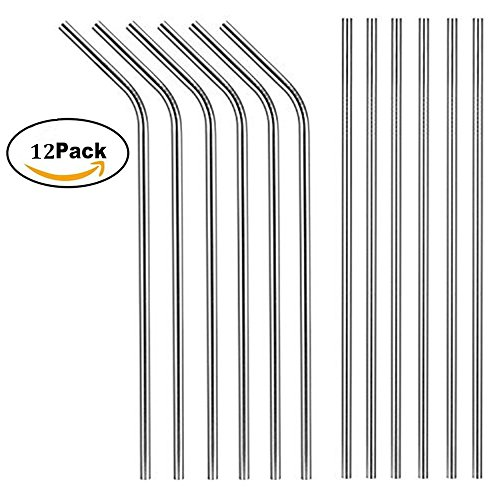X-Chef 8.5' Drinking Straws for Yeti, Stainless Steel
