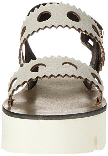 Pollini Zepni, Sandalias de Plataforma para Mujer Beige (Ivory)
