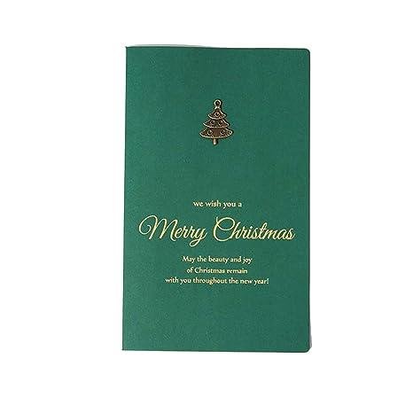 Topdo 10x Tarjeta de Felicitación Navidad con Papel Vintage Tarjeta Sobres para Navidad Fiesta Gift Card Cumpleaños Boda Postal Regalo Año ...