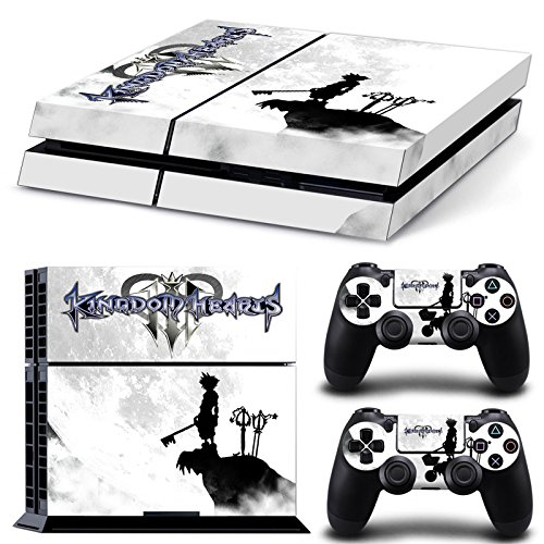 ZoomHit Ps4 Playstation 4 Console Skin Decal Sticker Kingdom Hearts Design + 2 Controller Skins Set