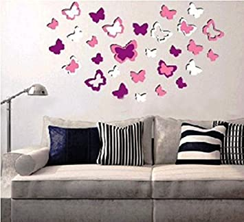 Sunboy Butterfly Shaped 3D Easy To Peel Self Adhesive Wall Decor Stickers,  Item Design Ideas