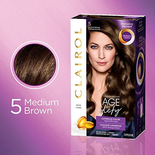 Clairol Age Defy Expert Collection 5 Medium Brown Permanent Hair Color 1 Kit PACKAGING MAY VARY