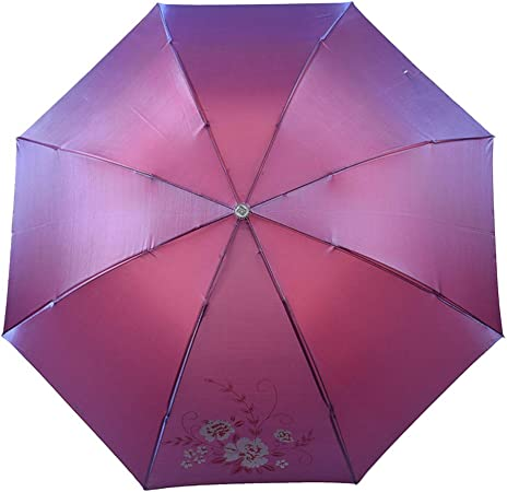 JUNDY Paraguas Plegable Mini Paraguas Ultraligero Resistente al Viento Plegable Compacto Paraguas portátil Paraguas Estampado, Lluvia y Lluvia, Doble Uso, Color de Tres pliegues3 96cm: Amazon.es: Hogar