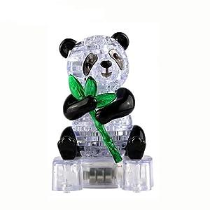 SunnyGod Peluche 3D Crystal Puzzle Cute Panda Modelo DIY Gadget Blocks Building Toy Gift Juguete Educativo Add ADHD