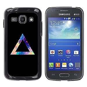 MOBMART Carcasa Funda Case Cover Armor Shell PARA Samsung Galaxy Ace 3 - Mystery Of The Triangle