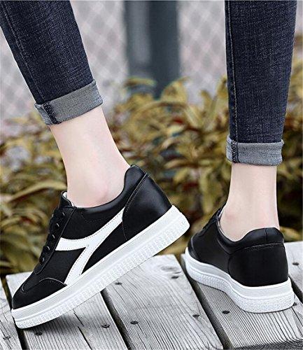 Redonda Mujer Punta Cuero de Plano Zapatillas Aumento Zapatos Viaje de de Zapatos Mujer Zapatos atléticos Zapatos Un Comfort Otoño Tacón de Primavera Invisible Casuales SS7ZxwaF